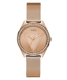 Rose Gold Tone Case Rose Gold Tone Stainless Steel/Mesh Watch  large