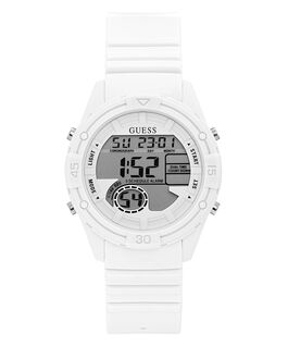White Case White Silicone Watch  large