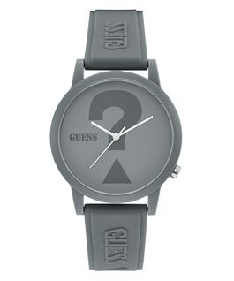 Grey Case Grey Silicone Watch  large