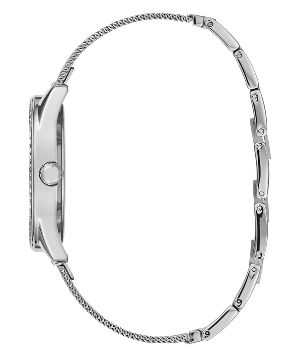 Silver Tone Case Silver Tone/Blue Mesh Watch  large