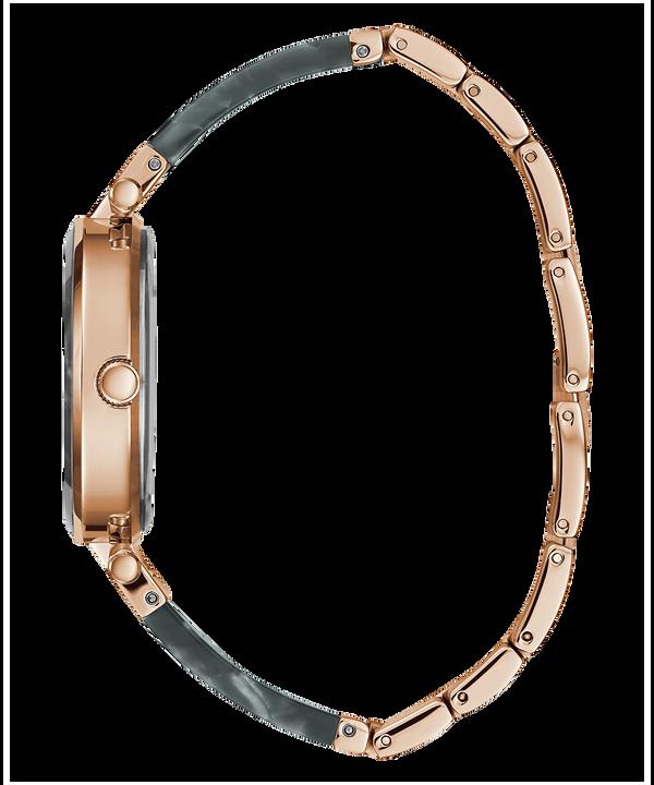 Rose Gold Tone Case Grey Resin Watch  large