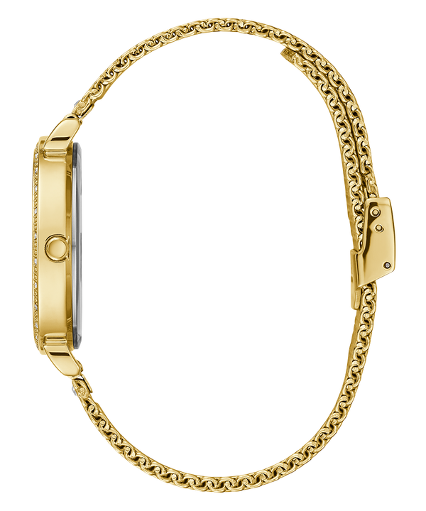 Gold Tone Case Gold Tone Mesh Watch  large