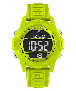 Green Case Green Silicone Watch  large