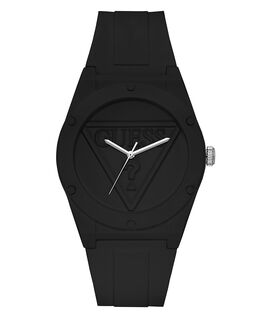 Black Case Black Silicone Watch  large
