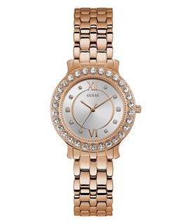 Ladies Rose Gold Tone Case Rose Gold Tone Stainless Steel Watch  large