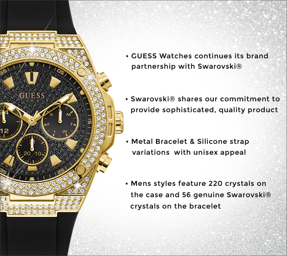Shop Men's Swarovski Crystal Watches | GUESS Watches